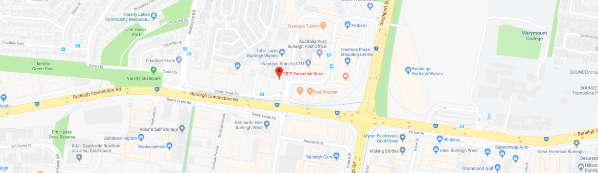 Google Map Pure Living Pilates Burleigh Gold Coast - Wide